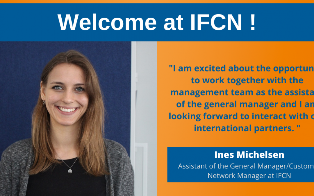 Welcome to IFCN, Ines Michelsen
